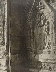 Kashmir. Temple of Marttand or the Sun. Niche in the interior. - Figure representing the Sun 15
